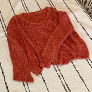 Free People Knit Bell Sleeve Sweater